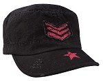 Women's Vintage Stripes & Stars Adjustable Fatigues Cap