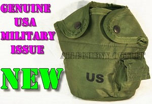 GENUINE US Military Issue 1 Qt Canteen Cover and 1Qt Pouch w/ Alice Clips NEW