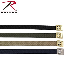 Military Web Belts w/ Open Face Buckle - 44""