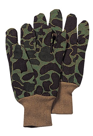 Camo Jersey Work Gloves