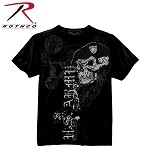 Black Ink U.S. Army Skull w/ Beret T-Shirt