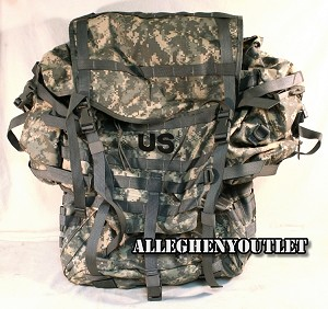 US Military Army ACU Digital MOLLE II RUCKSACK Complete Back Pack Rifleman Setup