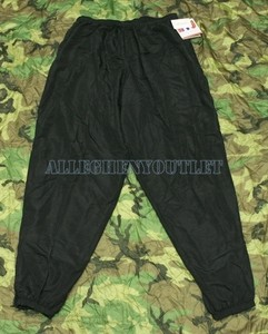 Military Army IPFU PT PHYSICAL FITNESS PANTS Windbreakers Jogging BLACK 3XL NEW