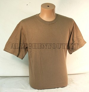 US ARMY ISSUE 100% COMBED COTTON BROWN SHIRT SIZE MEDIUM EXCELLENT