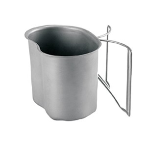 Stainless Steel 1 Quart G.I. Type Canteen Cup