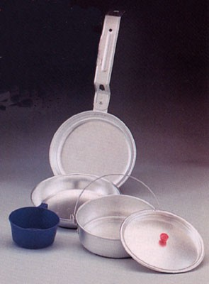 5 Piece Aluminum Mess Kit
