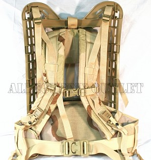 Military MOLLE Rifleman Desert Tan Fram, Shoulder Straps & Belt - 4th Gen-NEW