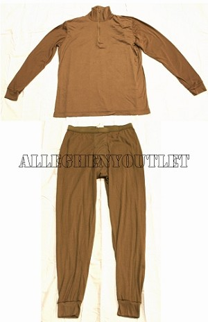 PECKHAM LWCWUS Lightweight Wicking Cold Weather TAN SHIRT / PANTS SET EXCELLENT