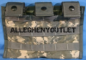 Genuine US Military Molle ACU DIGITAL Triple Three Mag Magazine Pouch NEW