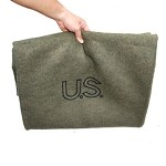 Olive Drab Genuine GI US Virgin Wool Blanket (62