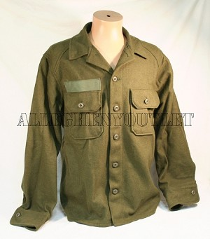 Genuine US Military WOOL FIELD SHIRT Cold Weather Winter Hunting OD Medium