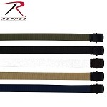 Military Web Belts w/ Black Buckle - 44