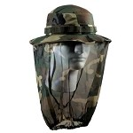 Military Wide Brim Boonie Hat With Mosquito Netting